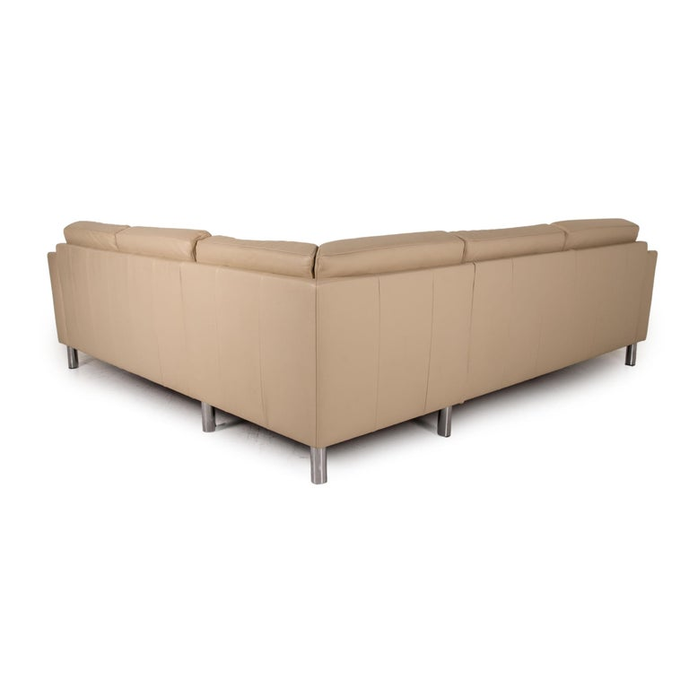 Gepade Leather Sofa Cream Corner Sofa Couch For Sale 3