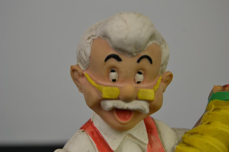 Rubber squeaky doll of Geppetto, known as the woodcarver of the Pinocchio movie.