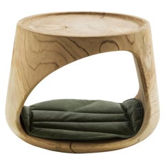 In stock in Los Angeles, Geppo Pet Wood Stool, by Marco Baxadonne, Made in Italy