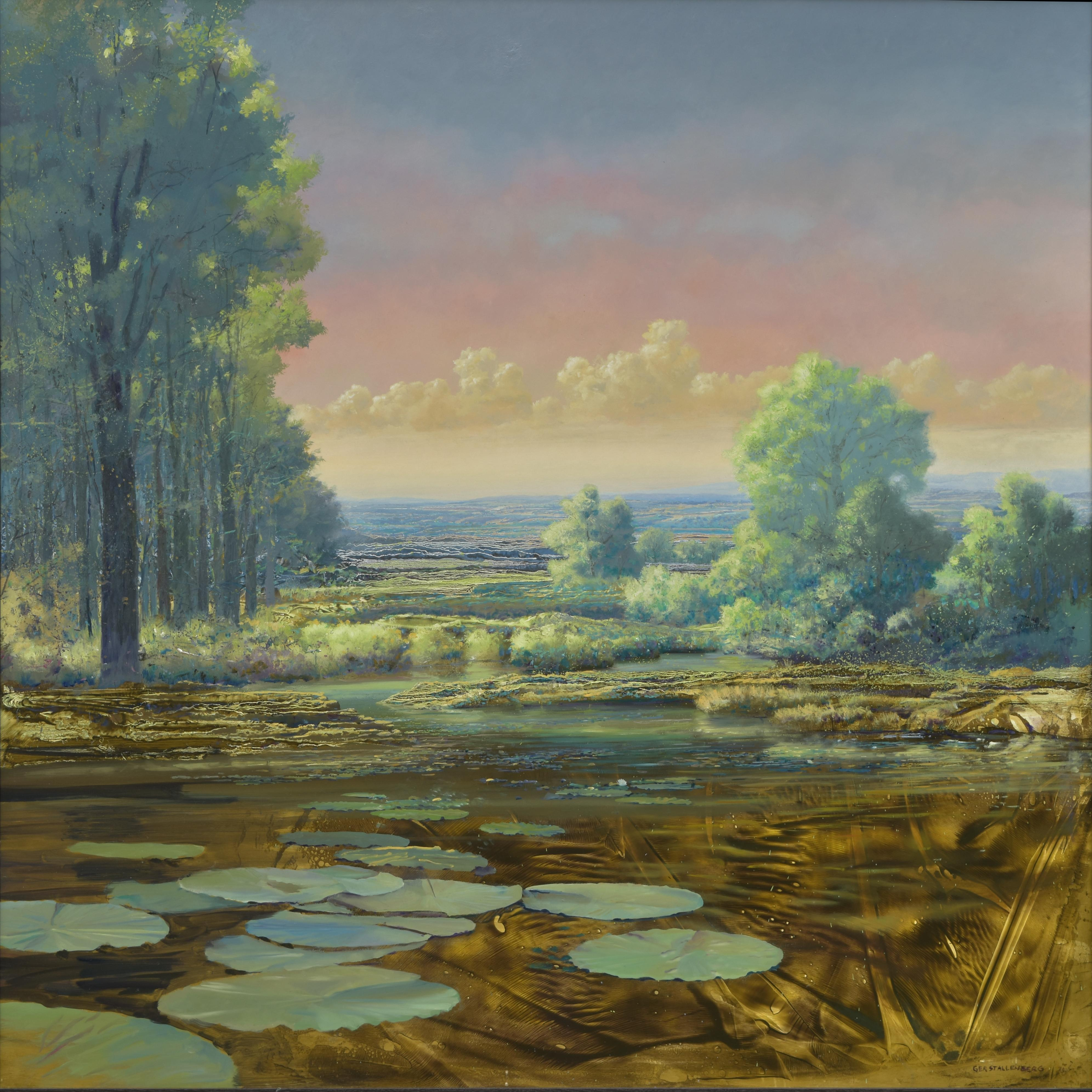 From here to Eternity - 21st Century Contemporary Colorful Landscape Painting