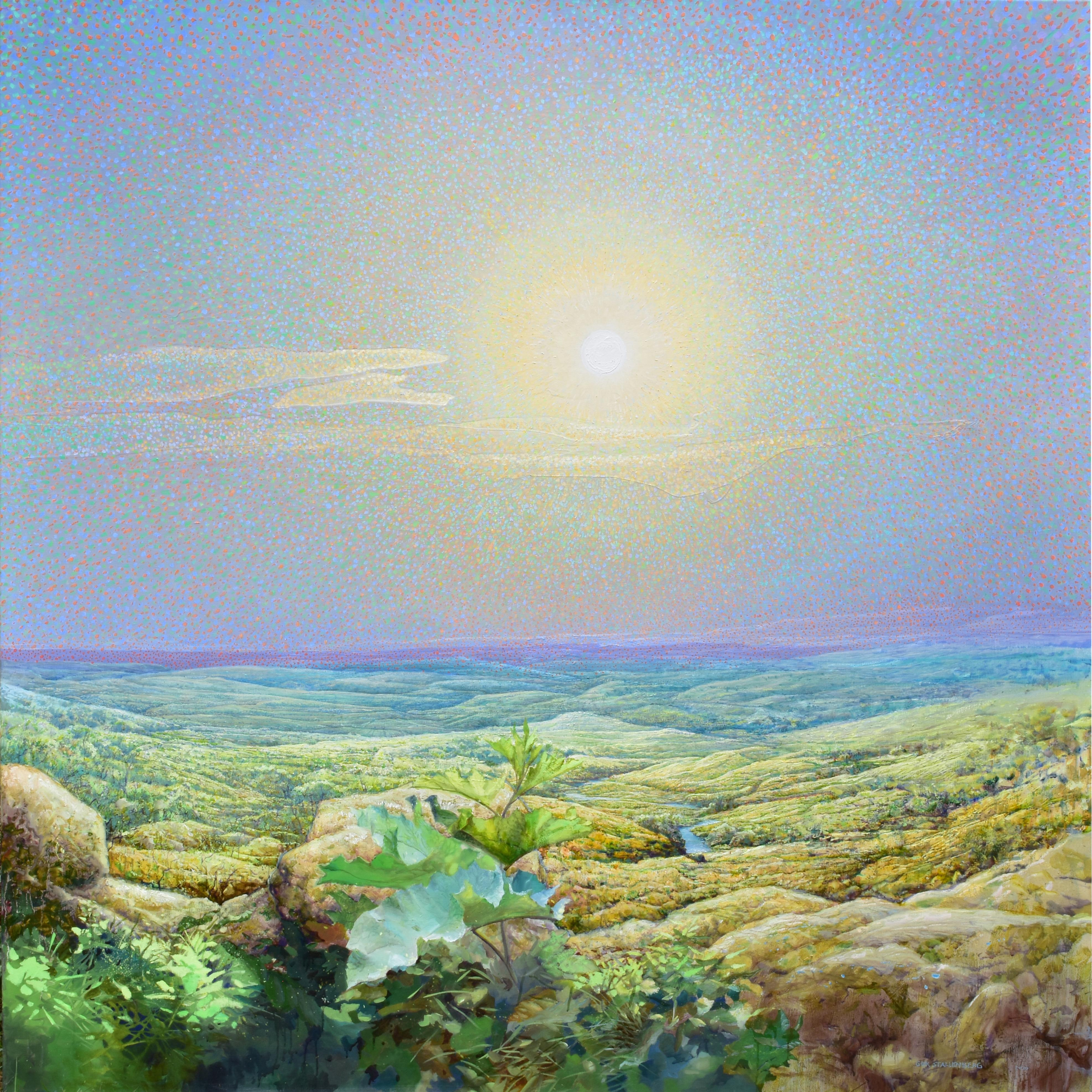 Helios - 21st Century Contemporary Colorful Impressionistic Landscape Painting