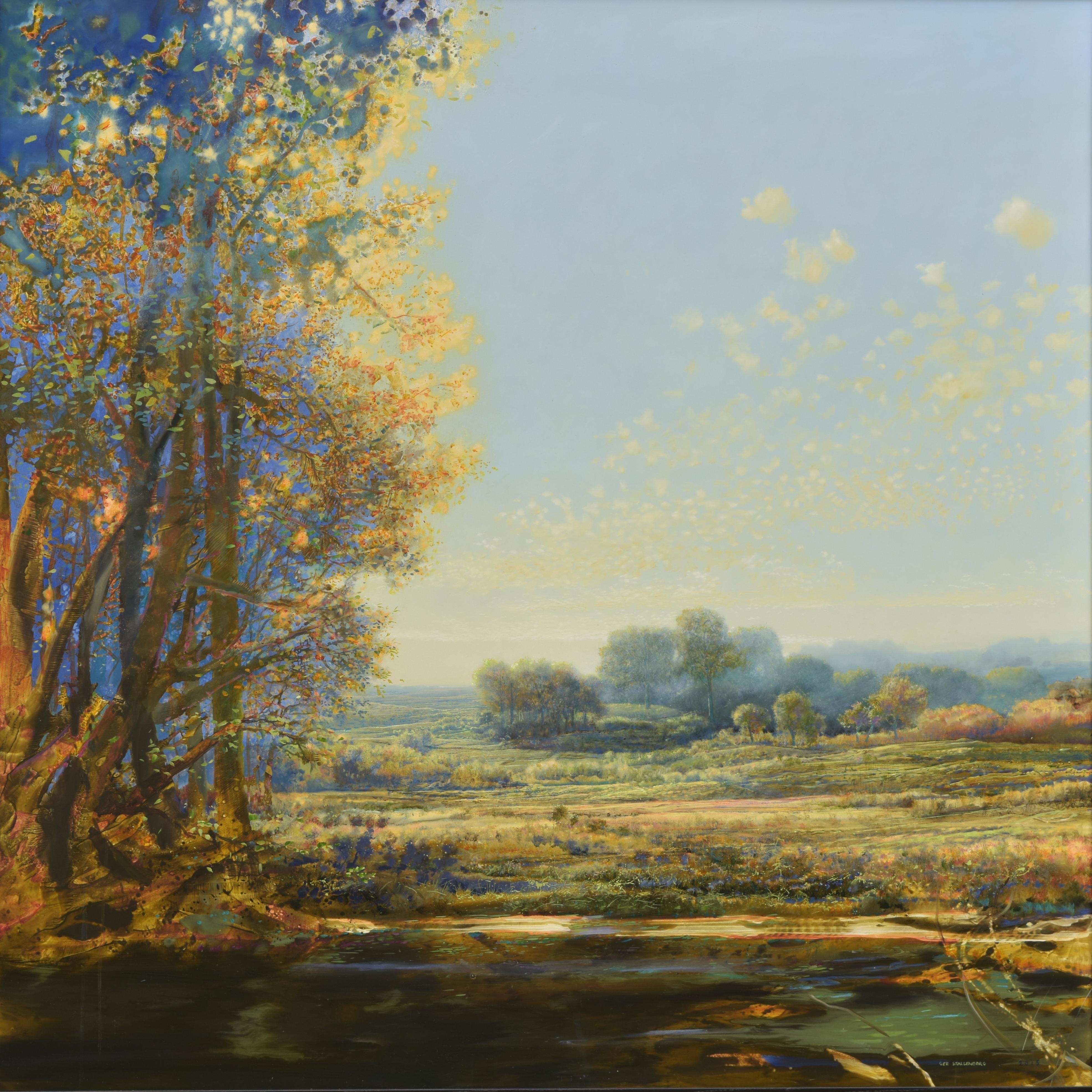 Next Step- 21st Century Contemporary Colorful Landscape Painting