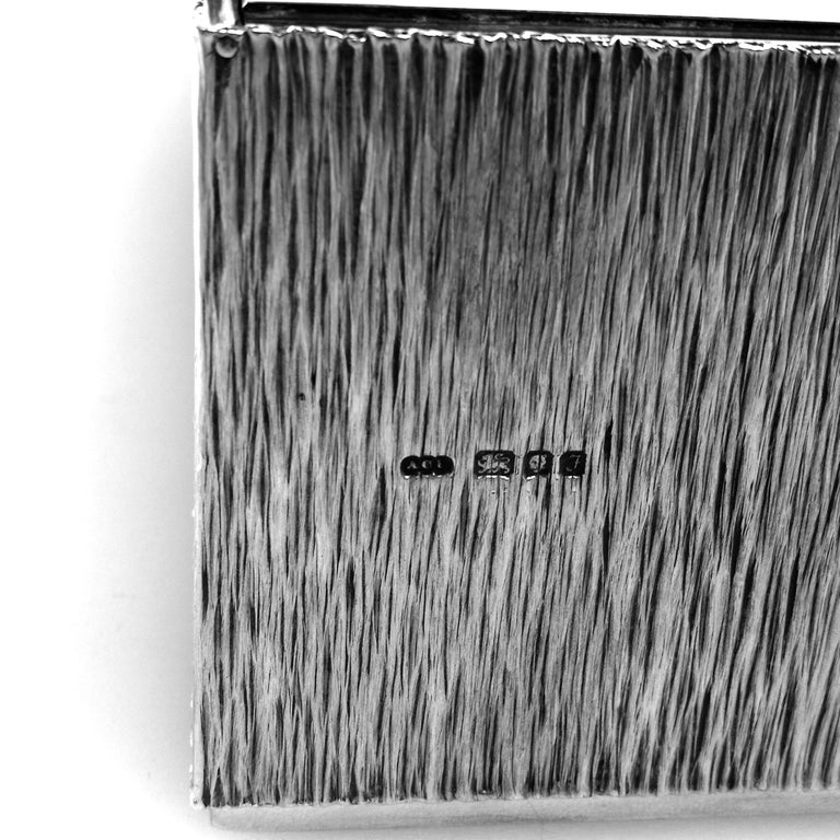 Gerald Benney Sterling Silver Cigar Box / Cigarette Box 1981 For Sale 1