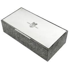 Gerald Benney Sterling Silver Cigar Box / Cigarette Box, 1981