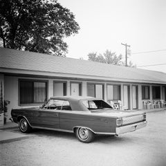 1967 Plymouth, Old Timer, Route 66, USA, black and white photography landscapes