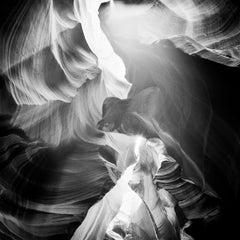 Antelope Canyon Study 5, Arizona, USA - Black and White fine art photography