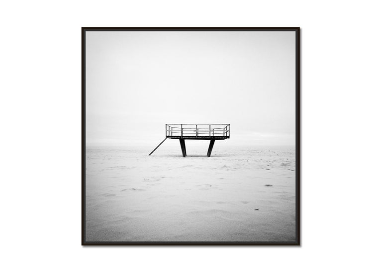 Dance Floor, Sylt, Germany, fine art black and white photography, landscapes   - Photograph by Gerald Berghammer, Ina Forstinger