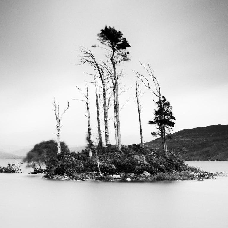 Drowned Island Study 2, Scotland - B&W long exposure fine art landscapes photo For Sale 1