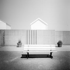 Esplanade, Beach, France, contemporary black and white photography, landscapes