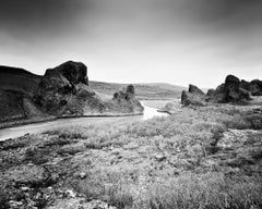 Follow Rivers, Iceland, black and white fine art photography, landscapes