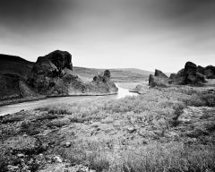 Follow Rivers, Iceland - Black and White Long Exposure Fine Art Film Photography
