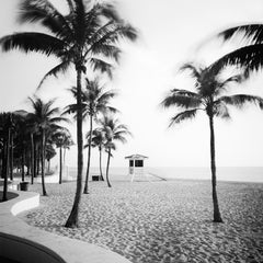 Fort Lauderdale Beach, Florida, USA, black and white landscape photography