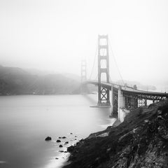 Golden Gate Bridge, San Francisco, Architecture, black and white photography
