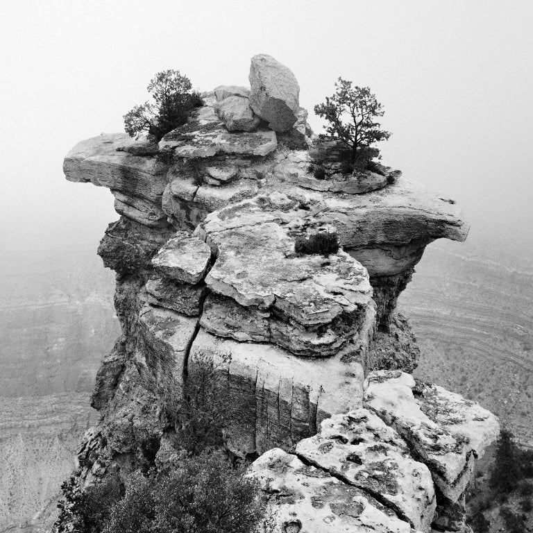 Grand Canyon Study 1, Arizona, USA - Black and White fine art film photography - Photograph by Gerald Berghammer, Ina Forstinger
