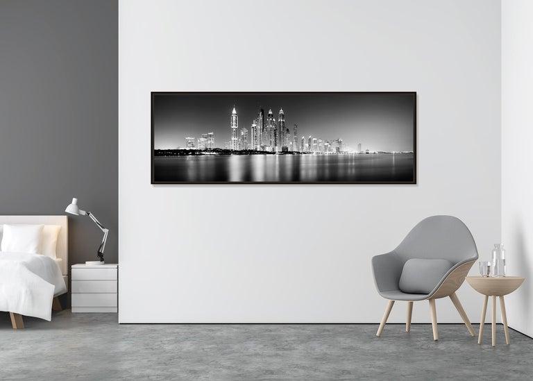 Marina Night Panorama, Dubai - Black and White Analogue Fine Art Photography For Sale 2