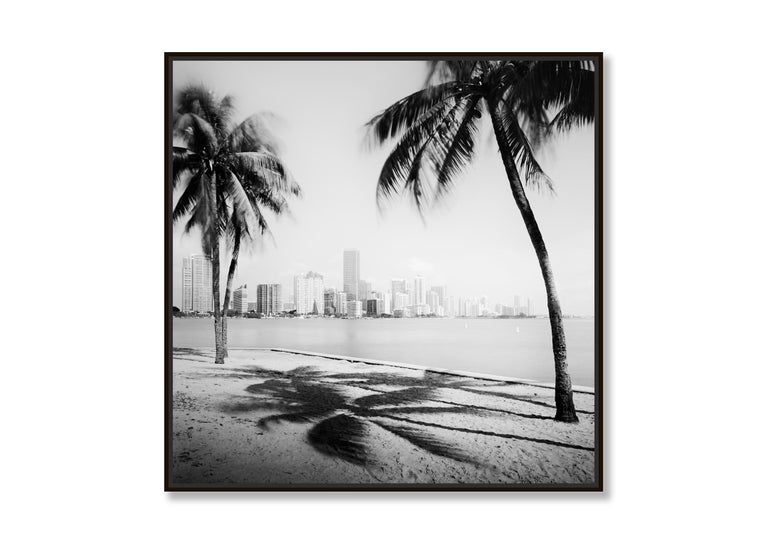Miami Beach Skyline 1, Florida, USA - Black and White fine art film photography - Contemporary Photograph by Gerald Berghammer, Ina Forstinger