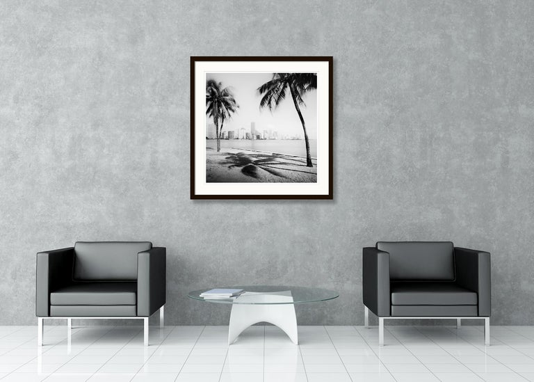 Miami Beach Skyline 1, Florida, USA - Black and White fine art film photography For Sale 1