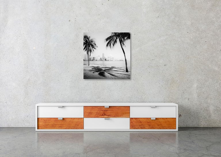 Miami Beach Skyline 1, Florida, USA - Black and White fine art film photography For Sale 2