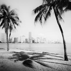 Miami Beach Skyline, Florida, USA, black and white art photography, landscapes
