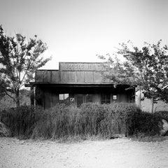 Music Hall, Arizona, Route 66, USA, art black and white landscape photography