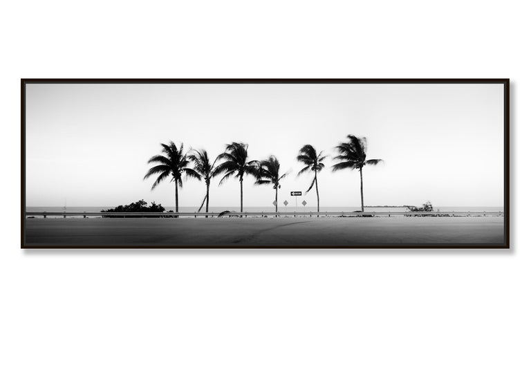 ONE WAY Panorama, Florida, USA - Black and White Fine Art Landscape Photography - Gray Black and White Photograph by Gerald Berghammer, Ina Forstinger