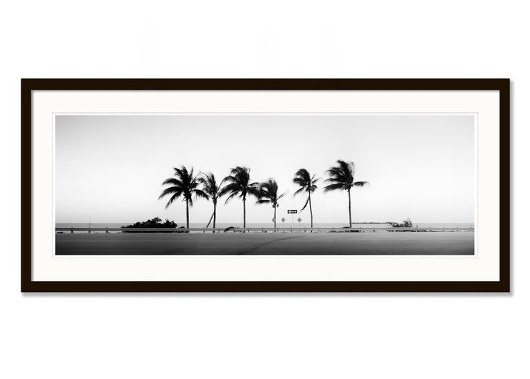 ONE WAY Panorama, Florida, USA - Black and White Fine Art Landscape Photography For Sale 1