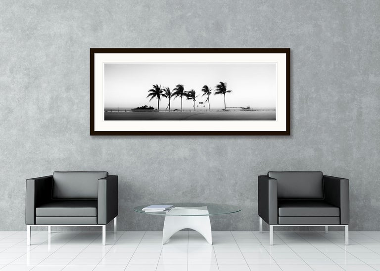 ONE WAY Panorama, Florida, USA - Black and White Fine Art Landscape Photography For Sale 2