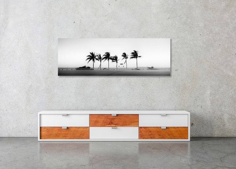 ONE WAY Panorama, Florida, USA - Black and White Fine Art Landscape Photography For Sale 3