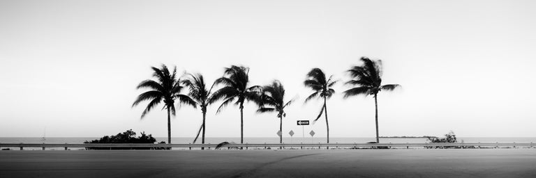 Gerald Berghammer, Ina Forstinger Black and White Photograph - ONE WAY Panorama, Florida, USA - Black and White Fine Art Landscape Photography