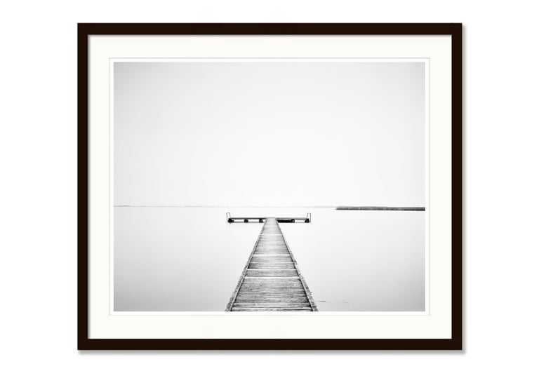 Pier Study 4, Austria 2015 - Black and White Long Exposure Fine Art Photography For Sale 2