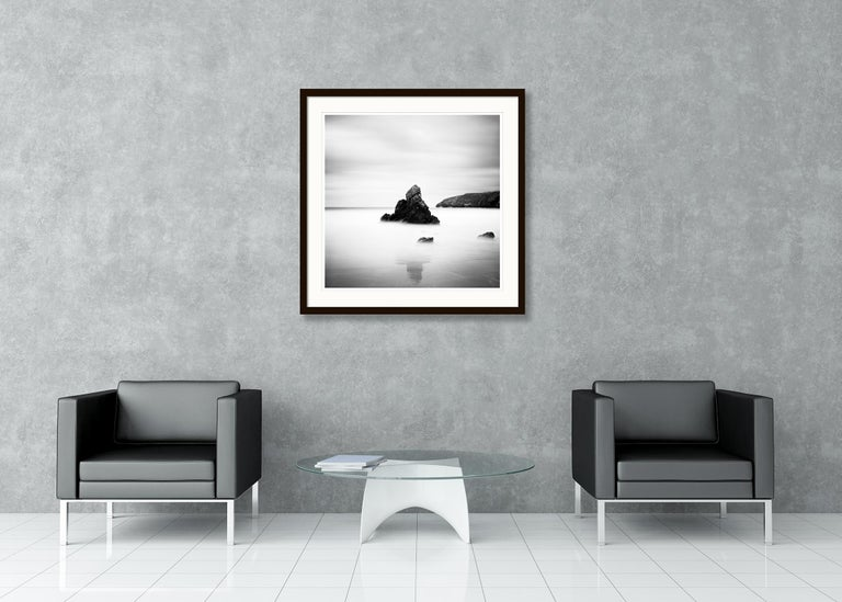 Sea Stack Study 2, Scotland - Black and White fine art seascapes photography For Sale 1