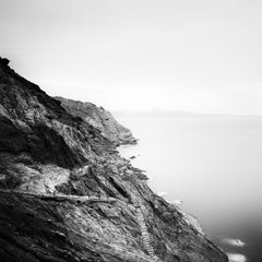 Stairway to Beach, Portugal, fine art black and white photography, landscapes