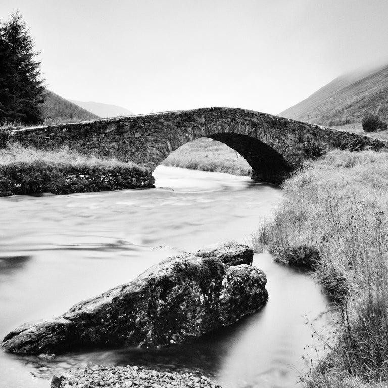 Stone Bridge, Scotland - Black and White long exposure fine art film photography - Photograph by Gerald Berghammer, Ina Forstinger