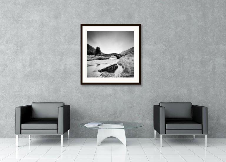 Stone Bridge, Scotland - Black and White long exposure fine art film photography For Sale 1