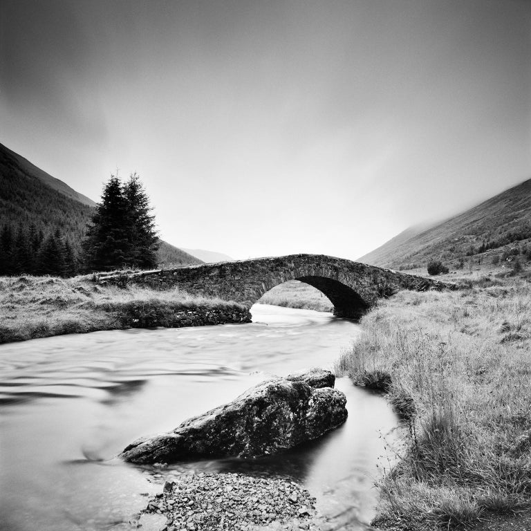 Gerald Berghammer, Ina Forstinger Landscape Photograph - Stone Bridge, Scotland - Black and White long exposure fine art film photography