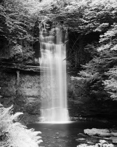 Waterfall, Ireland, fine art contemporary black and white photography landscapes