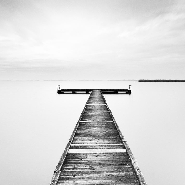 Winter Storm, Lake, Austria - Black and White long exposure fine art photography 2