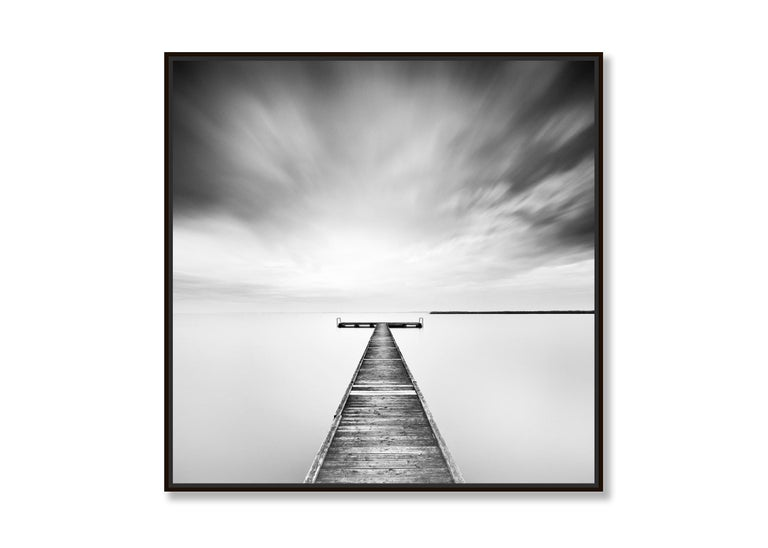 Winter Storm, Lake, Austria - Black and White long exposure fine art photography 3