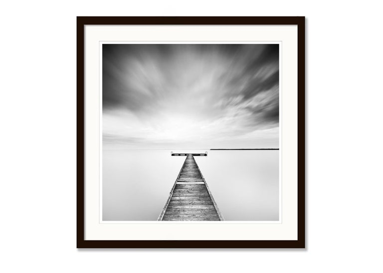Winter Storm, Lake, Austria - Black and White long exposure fine art photography 5