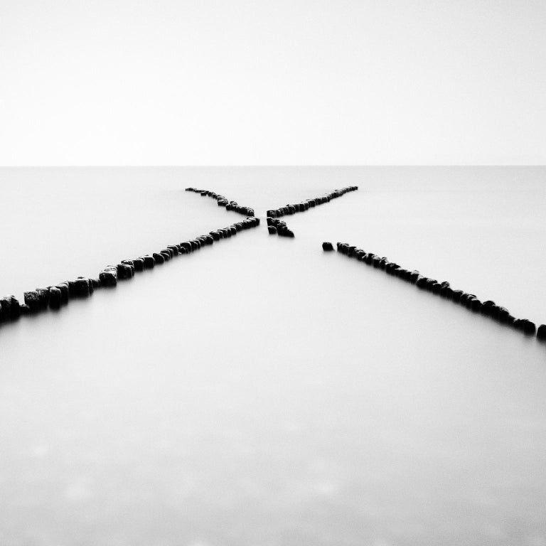 X - Factor, Rügen, Germany - Black and White long exposure fine art photography - Photograph by Gerald Berghammer, Ina Forstinger