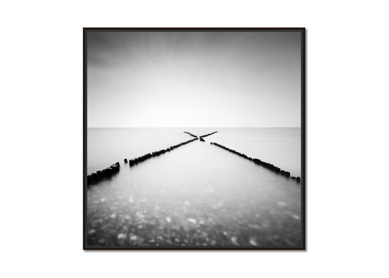 X - Factor, Sylt, Germany, minimalist black and white photography, landscapes - Photograph by Gerald Berghammer, Ina Forstinger