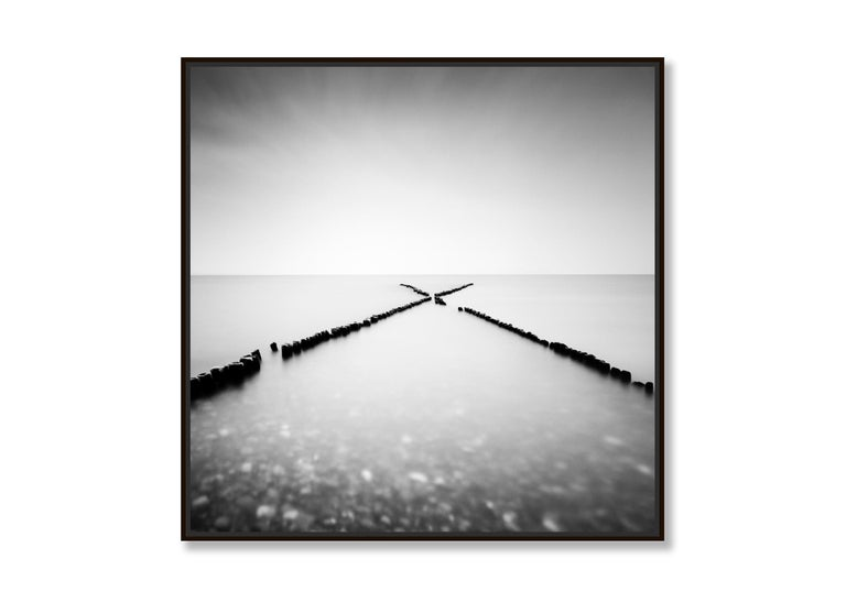 X - Factor, Rügen, Germany - Black and White long exposure fine art photography - Contemporary Photograph by Gerald Berghammer, Ina Forstinger