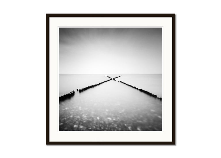 X - Factor, Sylt, Germany, minimalist black and white photography, landscapes - Gray Landscape Photograph by Gerald Berghammer, Ina Forstinger