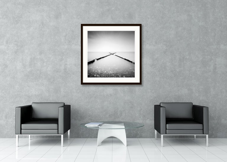 X - Factor, Rügen, Germany - Black and White long exposure fine art photography For Sale 1