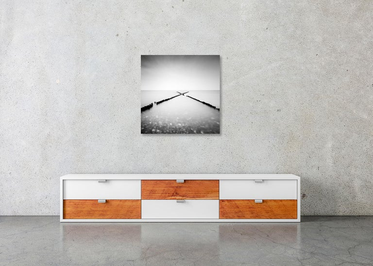 X - Factor, Rügen, Germany - Black and White long exposure fine art photography For Sale 2