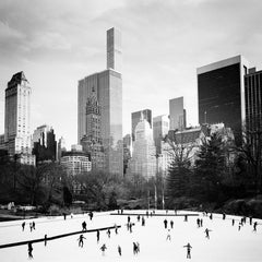 Dancing on Ice, Skyscraper New York City, black and white photography cityscape