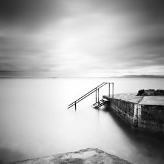 Four Steps Down, Ireland, minimalist black and white photography, landscape