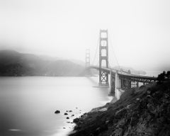 Golden Gate Overlook, San Francisco, USA, black and white photography, landscape