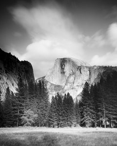 Half Dome, Yosemite National Park, USA, black and white photography, landscape