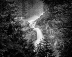 Krimmler Waterfall, Mountain Stream, Austria, B&W fineart photography, landscape